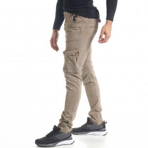 Pantaloni cargo bărbați Bread & Buttons kaki