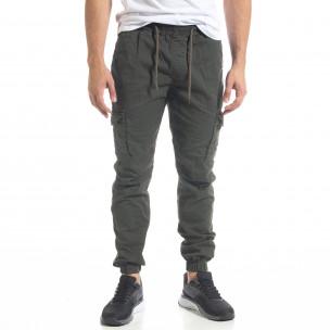 Pantaloni cargo bărbați Blackzi verzi Blackzi 2