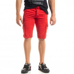 Pantaloni scurți bărbați Blackzi roșii  2