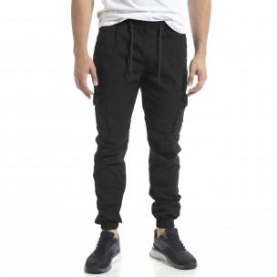 Pantaloni cargo bărbați Blackzi negri Blackzi