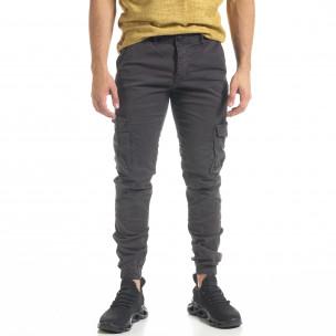 Pantaloni cargo bărbați Blackzi gri 2