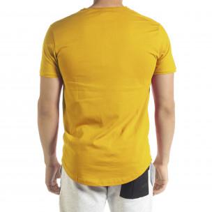 Tricou bărbați Clang galben  2