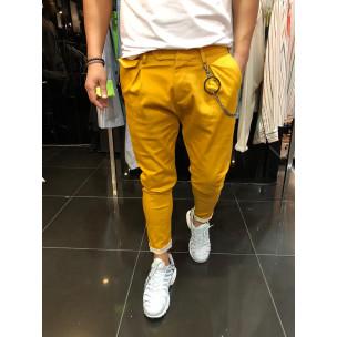 Pantaloni bărbați Open camel 2