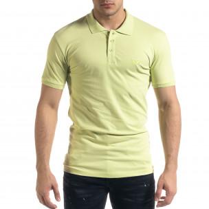 Tricou cu guler bărbați Lagos verde