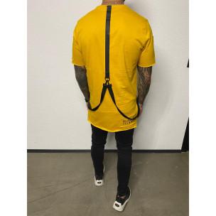 Tricou bărbați Black Island galben  2