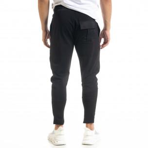 Pantaloni sport bărbați Breezy negru 2