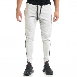 Pantaloni sport bărbați Breezy gri  2