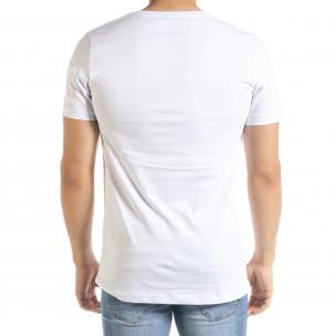 Tricou bărbați Clang alb 2