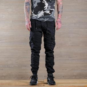 Pantaloni cargo bărbați Blackzi negri Blackzi 2