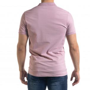 Tricou cu guler bărbați Clang roz Clang 2