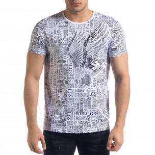 Tricou bărbați Lagos alb