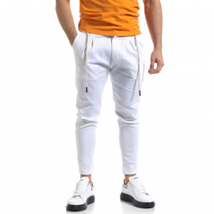 Pantaloni bărbați Open albi
