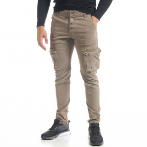 Pantaloni cargo bărbați Bread & Buttons kaki 2