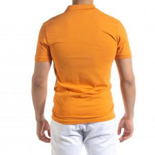 Tricou cu guler bărbați Lagos orange  2