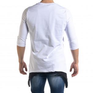Tricou bărbați Open alb 2