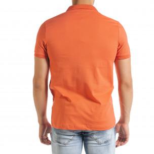 Tricou cu guler bărbați Clang orange  2