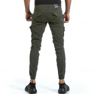 Pantaloni cargo bărbați Blackzi verzi 2