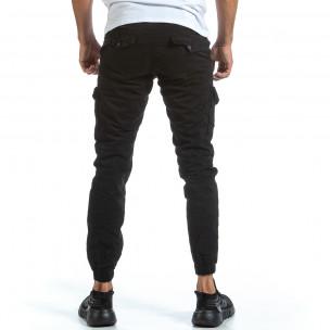 Pantaloni cargo bărbați Blackzi negri 2