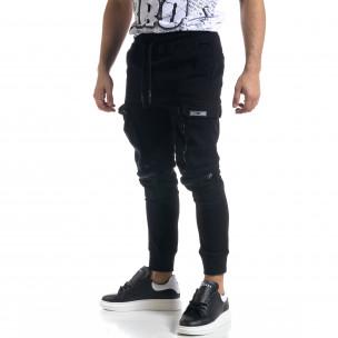 Pantaloni cargo bărbați Breezy negri
