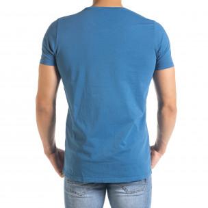 Tricou bărbați Lagos albastru  2