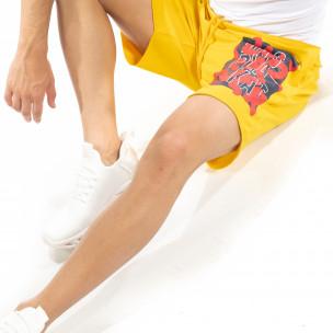 Pantaloni scurți bărbați SAW galbeni