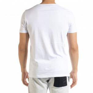 Tricou bărbați Panda alb  2