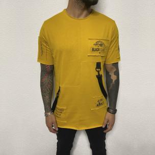 Tricou bărbați Black Island galben
