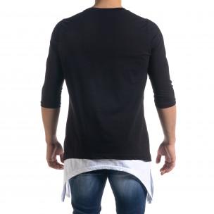 Tricou bărbați Open negru  2