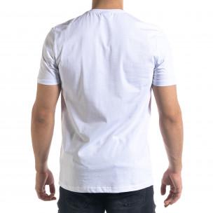 Tricou bărbați Breezy alb  2