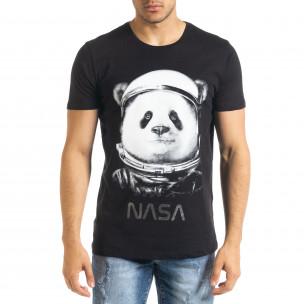 Tricou bărbați Panda negru
