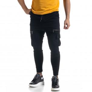 Cargo pantaloni sport bărbați Vae Victis negru