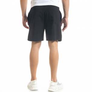 Pantaloni scurți bărbați SAW negri  2
