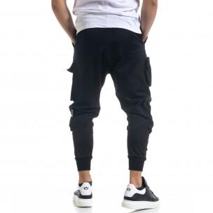 Cargo pantaloni sport bărbați Open negru  2