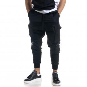 Cargo pantaloni sport bărbați Open negru