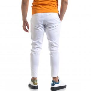 Pantaloni bărbați Open albi 2