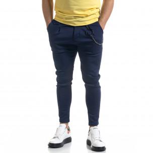 Pantaloni bărbați Open albaștri