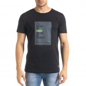 Tricou bărbați Clang negru