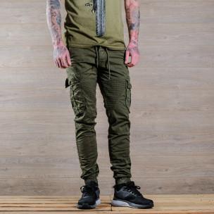 Pantaloni cargo bărbați Blackzi verzi
