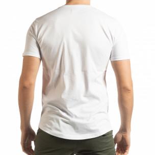 Tricou pentru bărbați alb cu craniu  2