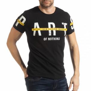 Tricou negru ART pentru bărbați