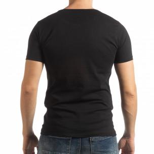 Tricou negru Criticize pentru bărbați  2
