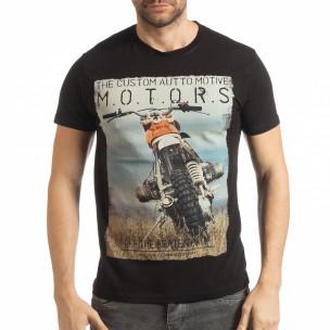 Tricou în negru pentru bărbați