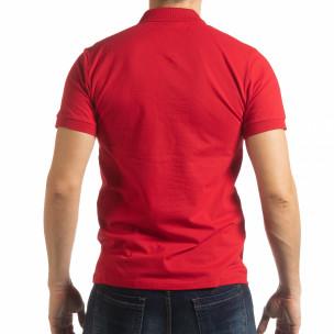 Tricou roșu cu accente pentru bărbați 2