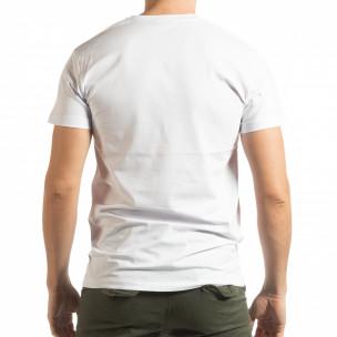 Tricou alb BK pentru bărbați  2