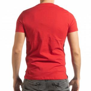 Tricou pentru bărbați New York în negru-roșu  2