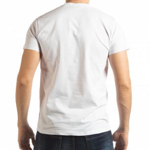 Tricou pentru bărbați Sound alb  2
