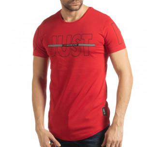 Tricou roșu Just do it pentru bărbați