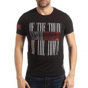 Tricou negru Resurrection pentru bărbați