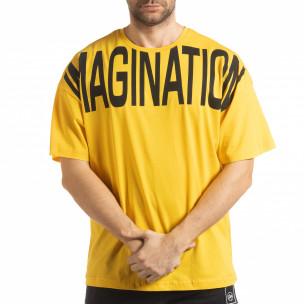 Tricou galben Imagination pentru  bărbați