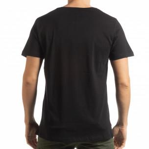 Tricou negru de bărbați cu craniu camuflaj  2